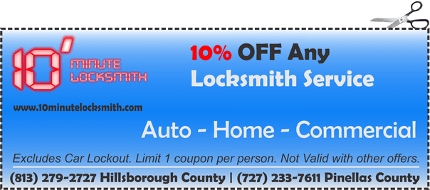 10% OFF any locksmith service