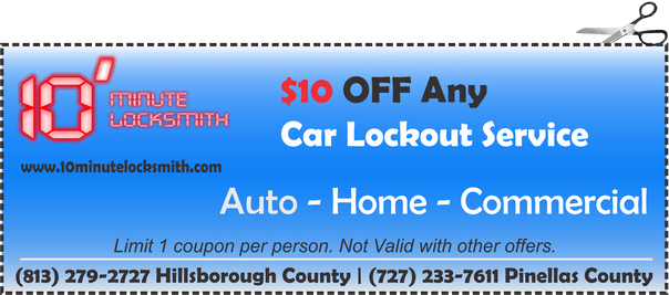 $10 OFF any car door unlocking service