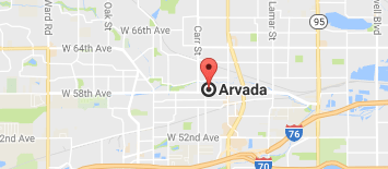 Google Map Arvada, CO
