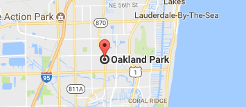 Google Map Oakland Park, FL